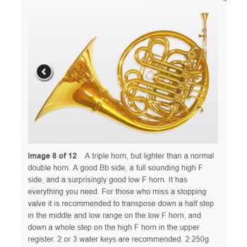 KÈN French Horns Compensating triple horn Bb-F high F