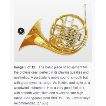 KÈN  Full double horn F-Bb