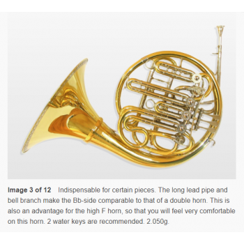 KÈN  Bb high Eb horn with A stopping valve