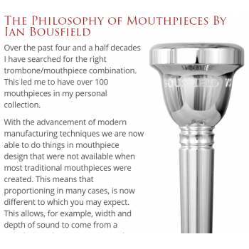 Griego - Tenor Trombone-Ian Bousfield-The Philosophy of Mouthpieces By Ian Bousfield