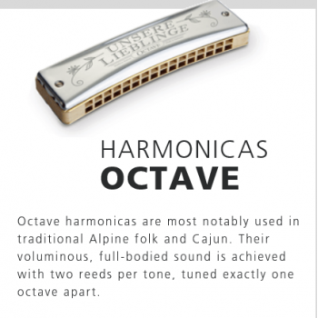 Hohner - Instruments-harmonica Octave