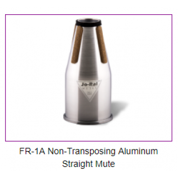 FRENCH HORN - FR-1A Non-Transposing Aluminum Straight Mute