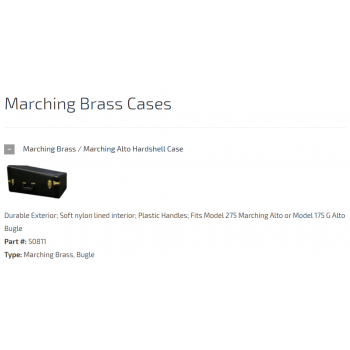 CASES - ACCESSORIES-Marching Brass Cases