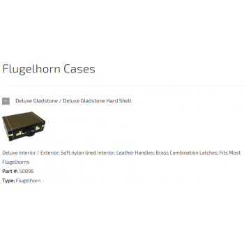 CASES & ACCESSORIES-Flugelhorn Cases