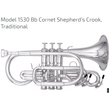 KÈN CORNETS-Model 1530 Bb Cornet Shepherd s Crook Traditional