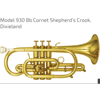 KÈN  CORNETS-Model 930 Bb Cornet Shepherd s Crook Dixieland