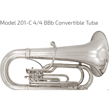 KÈN  INSTRUMENTS - MARCHING BRASS-Model 201-C 4-4 BBb Convertible Tuba