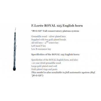 KÈN Instruments - English Horns - F.Lorée ROYAL 125 English horn