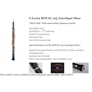 KÈN Loree - Instruments - Oboes - F Lorée ROYAL 125 Amethyst Oboe