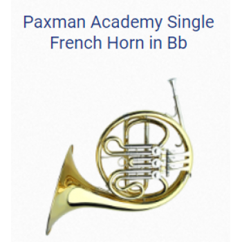 KÈN FRENCH HORNS - PAXMAN ACADEMY SINGLE FRENCH HORN IN BB