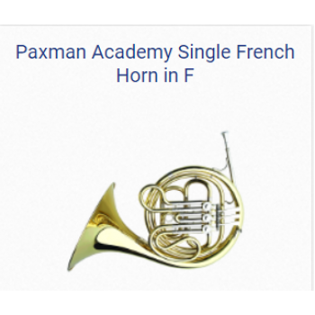 KÈN FRENCH HORNS - PAXMAN ACADEMY SINGLE FRENCH HORN IN F