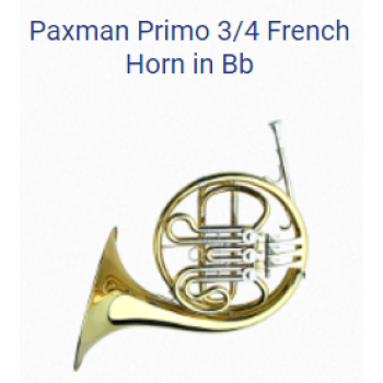 KÈN PRODUCTS - FRENCH HORNS-PAXMAN PRIMO 3-4 FRENCH HORN IN BB
