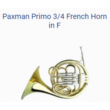 KÈN PRODUCTS - FRENCH HORNS-PAXMAN PRIMO 3-4 FRENCH HORN IN F