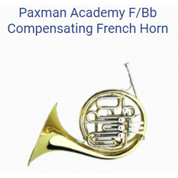 KÈN French Horns - PAXMAN FRENCH HORNS - PAXMAN ACADEMY F-BB COMPENSATING FRENCH HORN