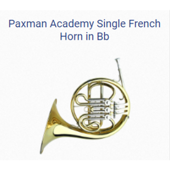 KÈN PAXMAN FRENCH HORNS - PAXMAN ACADEMY SINGLE FRENCH HORN IN BB