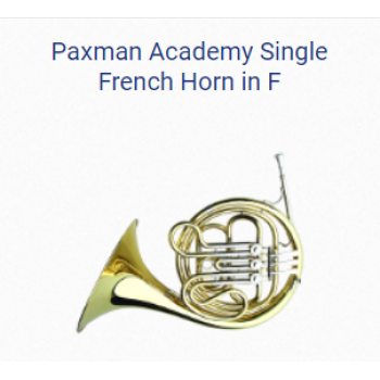 KÈN PAXMAN FRENCH HORNS-PAXMAN ACADEMY SINGLE FRENCH HORN IN F