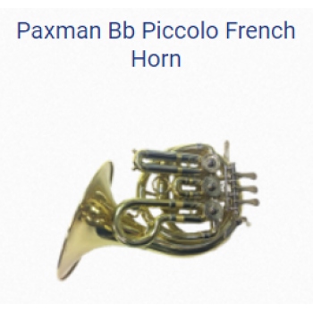 KÈN PAXMAN FRENCH HORNS-PAXMAN BB PICCOLO FRENCH HORN