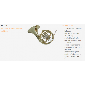 KÈN Ricco Kuhn - Instruments - Horns - Single Horns - W 113