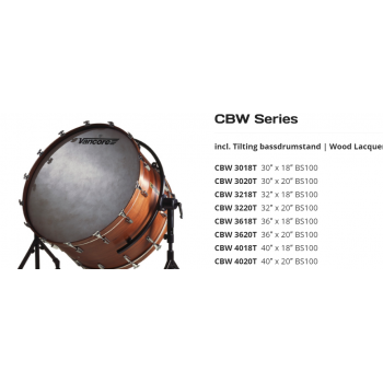 TRống Vancore Concert Series - CLASSICAL DRUMS - Bassdrums - CBW Series