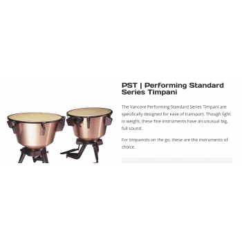 Trống Vancore Concert Series - PST  Performing Standard Series Timpani
